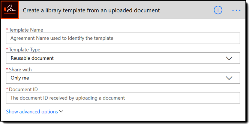 Create a library template from an uploaded document - Rebranded
