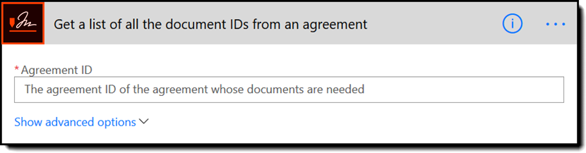 Get a list of all the document IDs from an agreement - Rebranded