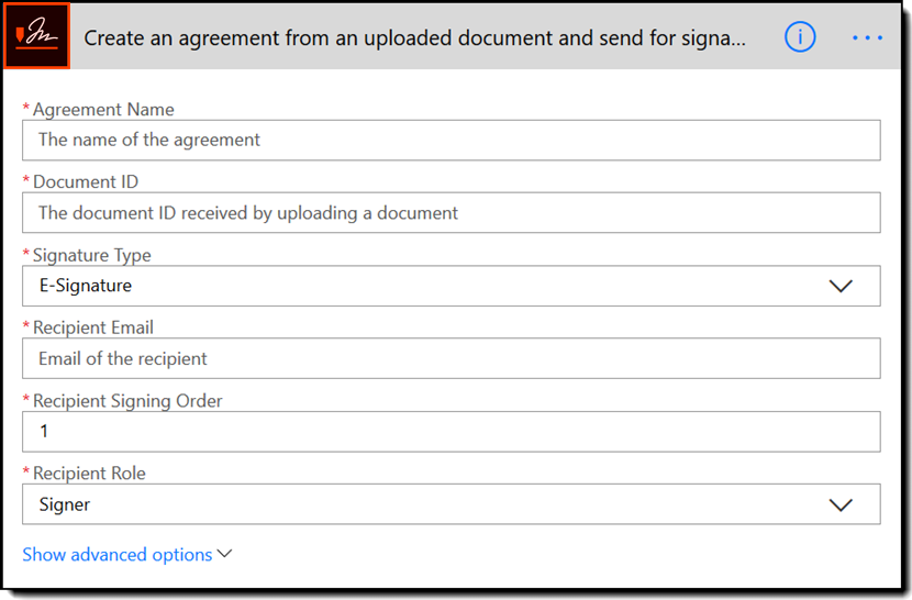 Create an agreement from an uploaded document and send for signature - Rebranded