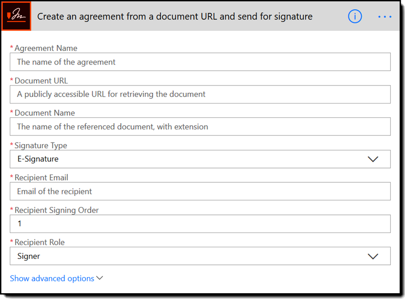 Create an agreement from a document URL and send for signature - Rebranded