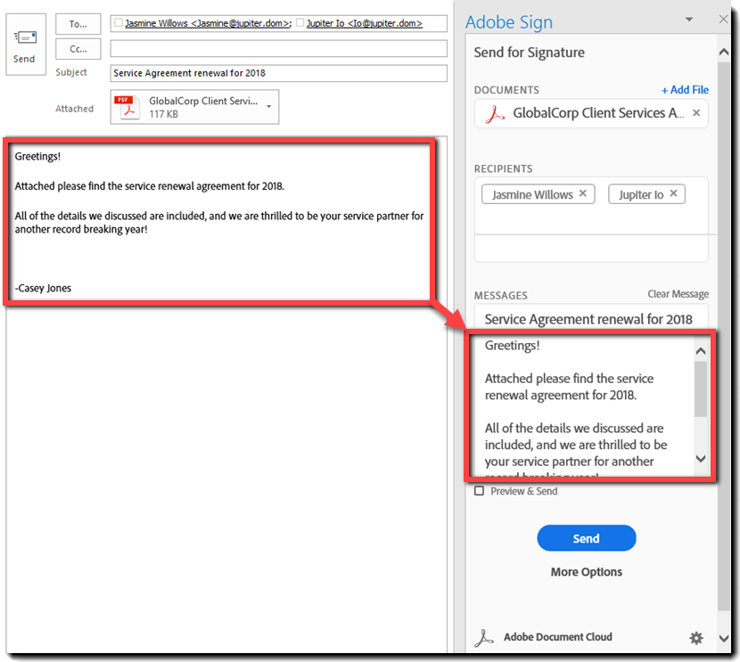 Install the Microsoft Outlook add-in