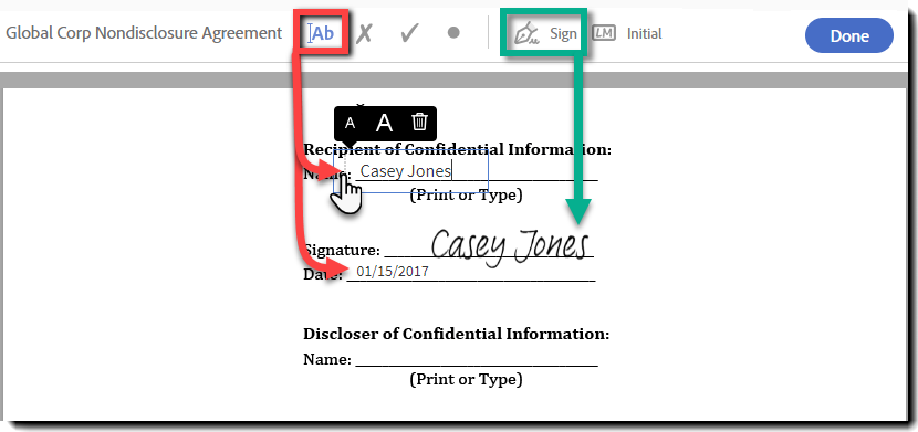 sign document window does not appear adobe pdf