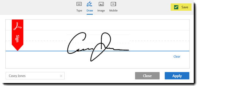 Example of the Signature