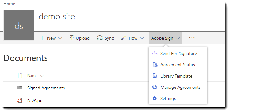 Adobe Sign For Sharepoint Online User Guide