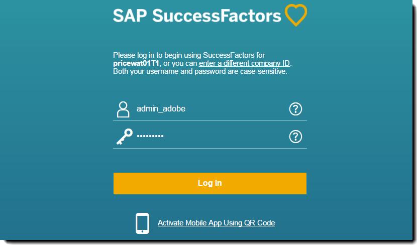 Resultado de imagen de success factors login