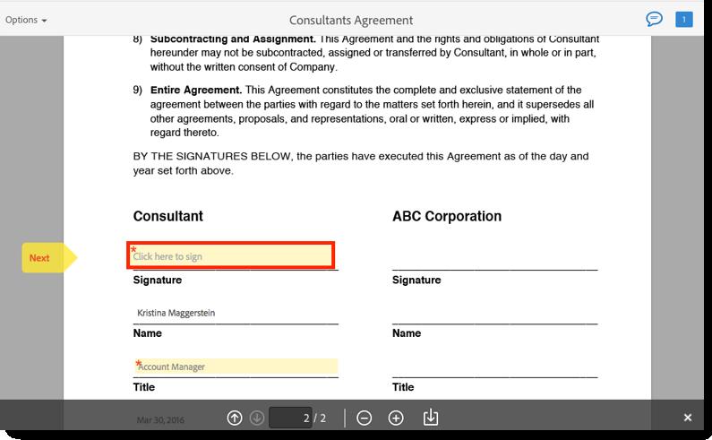 Adobe Sign User Guide