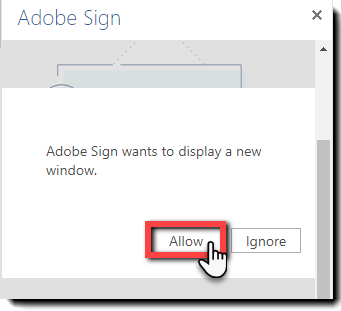 4. Allow Window