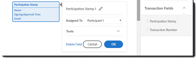 Participation Stamp Properties