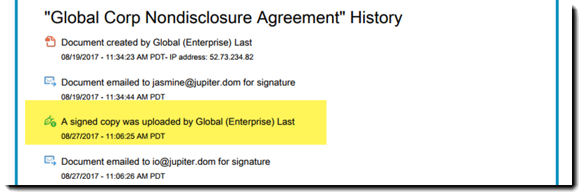Upload A Signed Copy Of An Agreement