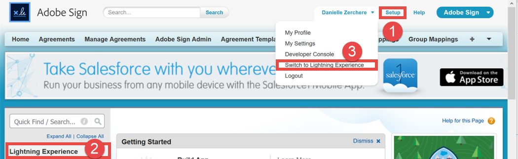 SFDC settings to switch to Lightening