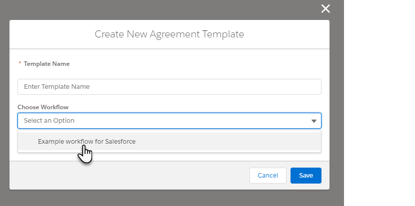 Workflows in Salesforce Templates