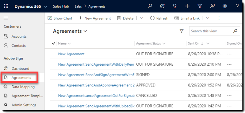Sales Hub - Agreements