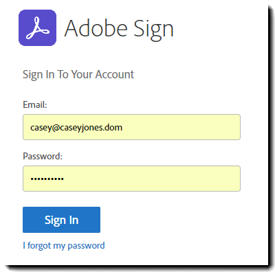 OWA Auth to AdobeSign