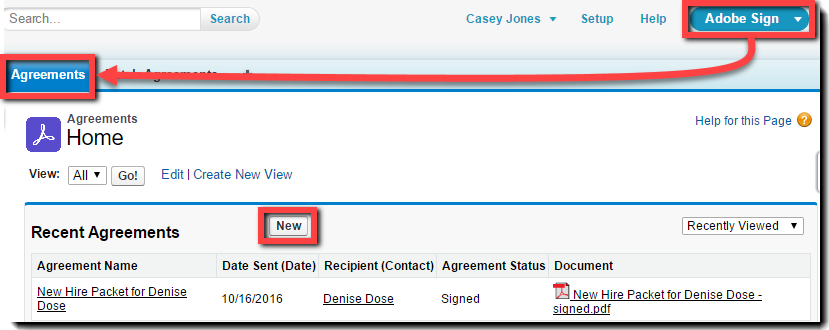 Classic - New Agreement - Tab
