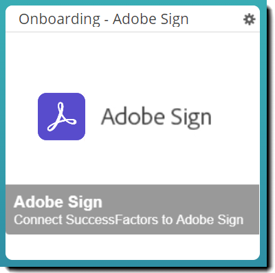 Adobe Sign tile