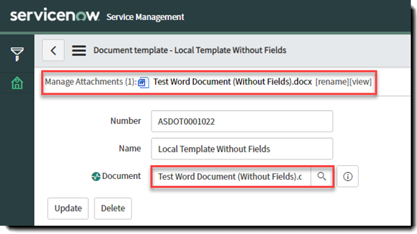 Templates - associate with a document