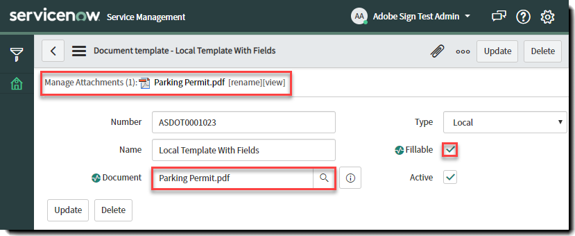 Templates - With fields and fillable