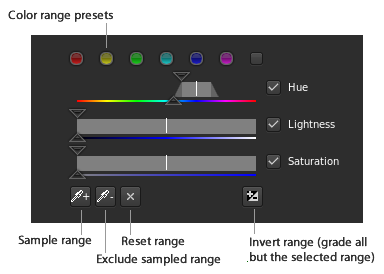 Color range selector
