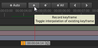 Record keyframe button