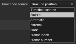 Timecode source
