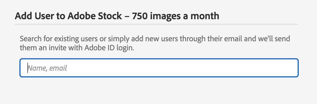 Add users to Adobe Stock