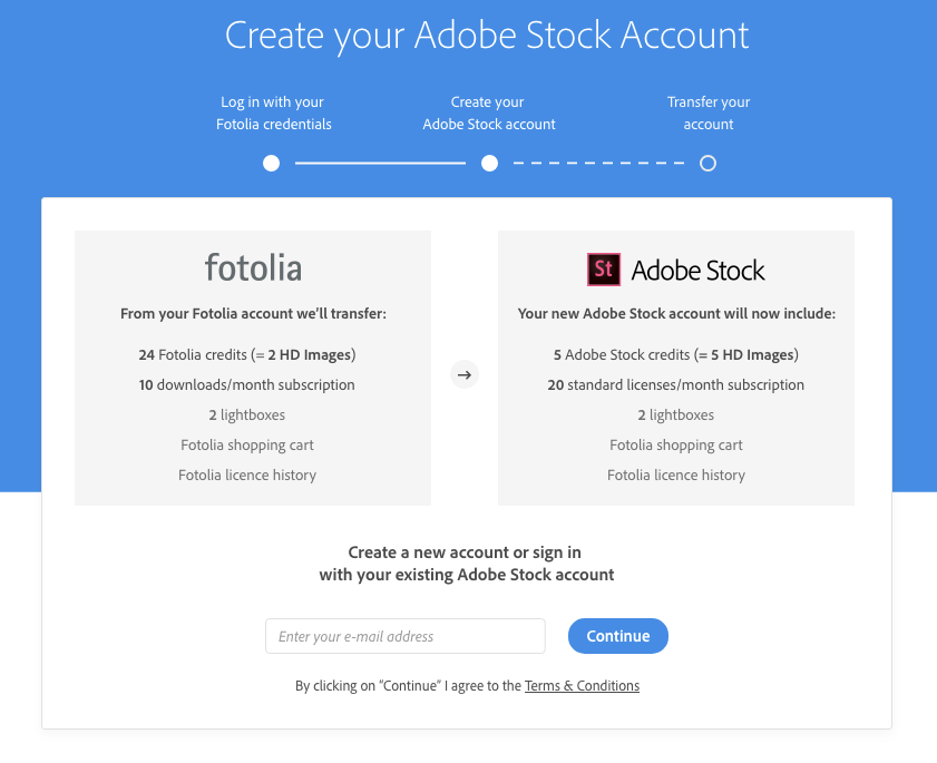Create your Adobe Stock account
