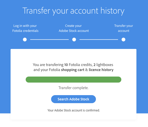 Transferring your account