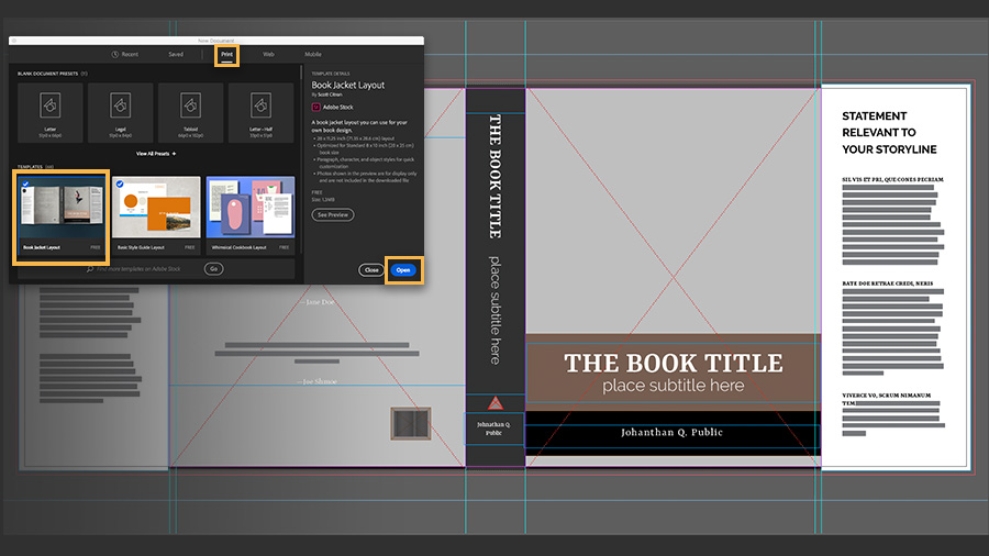 Photo Book Template from helpx.adobe.com