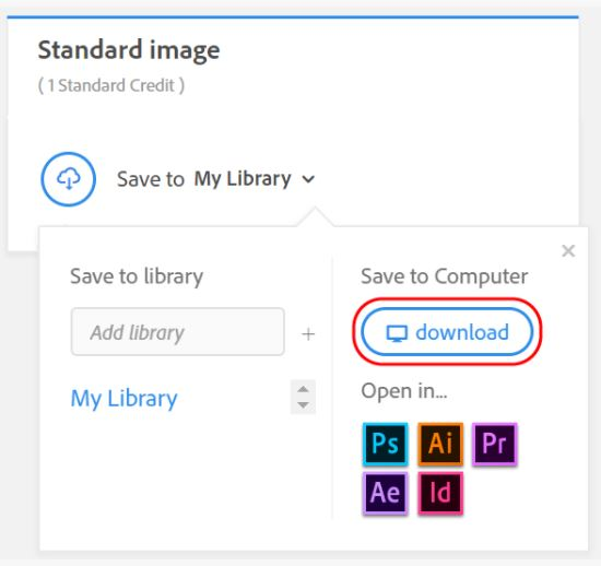 Unable to download Adobe Stock images