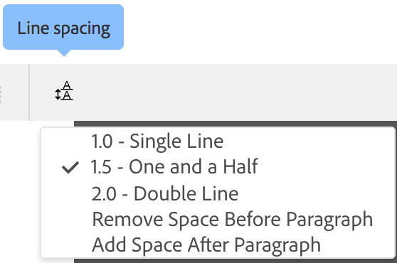 Remove spacing settings
