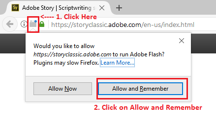 Enable Flash plug-in in Firefox