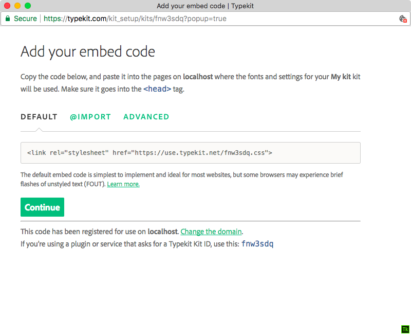 Instructions for using the JavaScript embed code