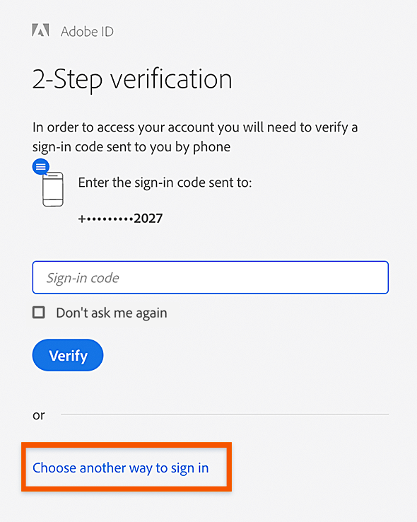 2-Step Verification: generate the code again