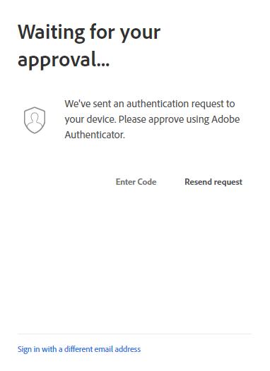 Adobe Authenticator sẽ gửi thông báo Phê duyệt đăng nhập