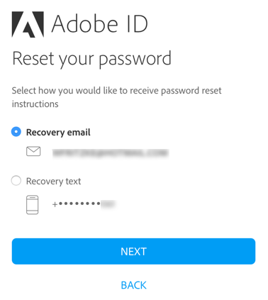 Reset password - options