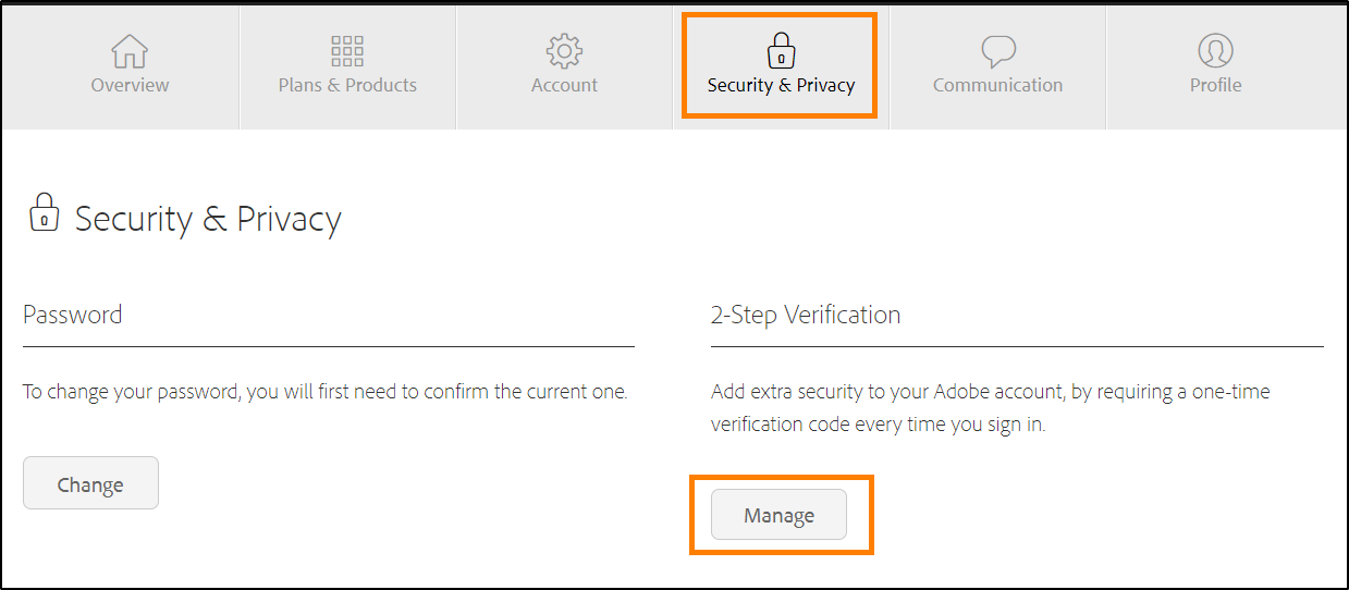 Manage 2-Step verification