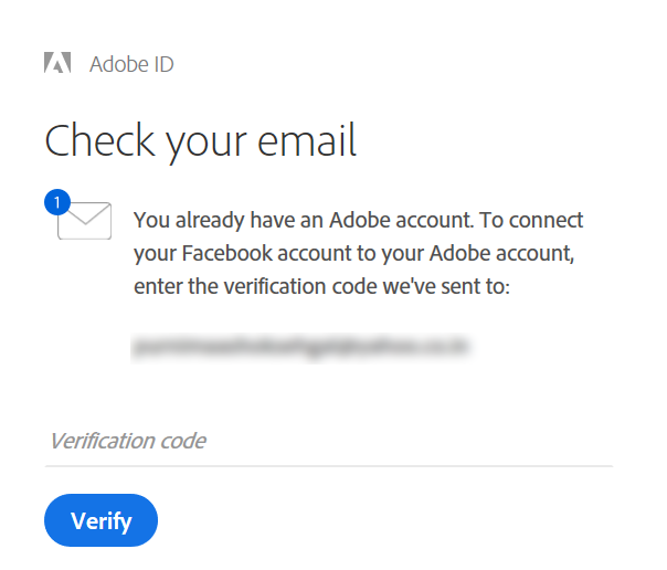 Enter the verification code sent to you by email