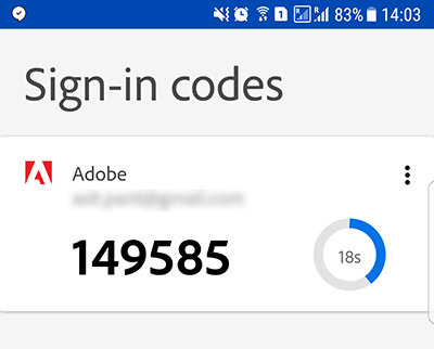 Enter a sign-in code manually