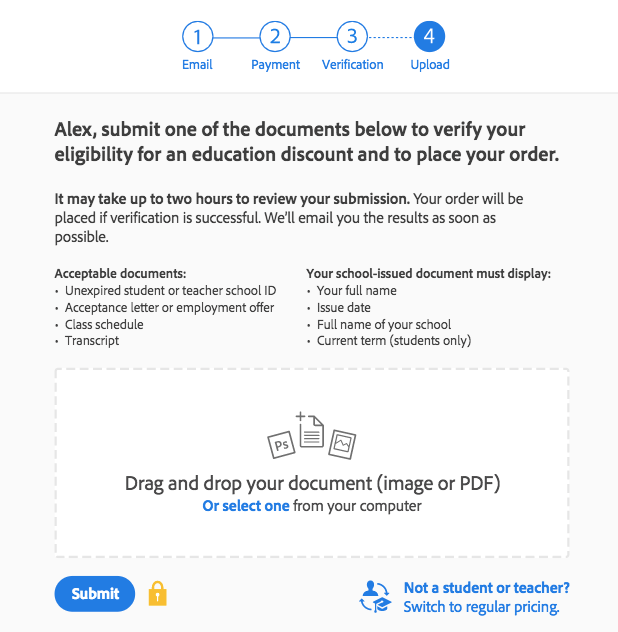 Document submit
