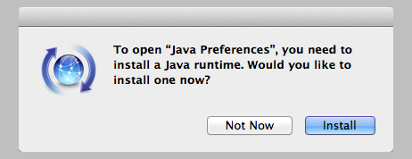 """Java not installed"" message"