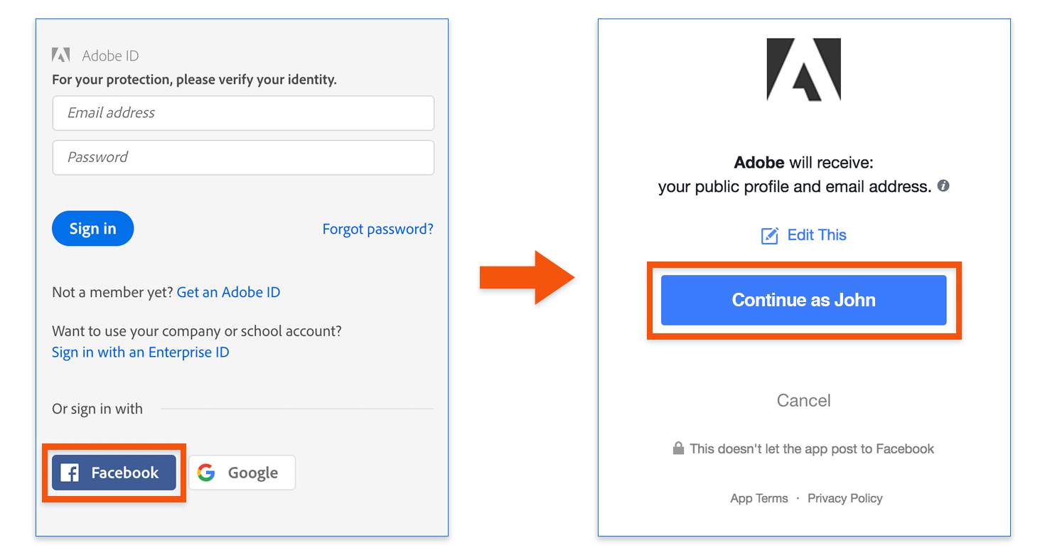 Continue with facebook sign up with email - Hot To Fix The Error You Did Not Authorize The Adobe Facebook