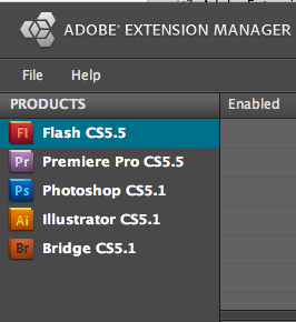 Adobe Extension Manager