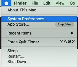 Choose System Preferences