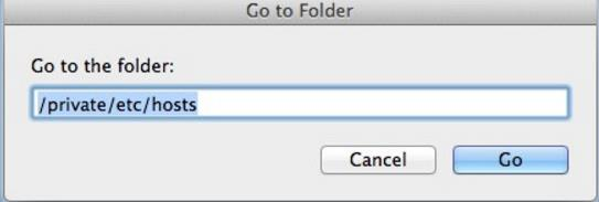 Go to Folder dialog box