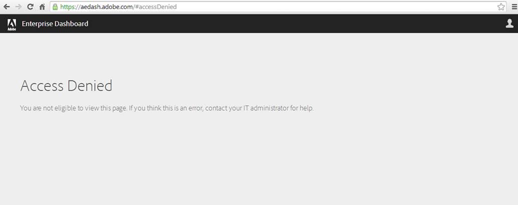 Troubleshoot Adobe Creative Cloud Admin Console errors