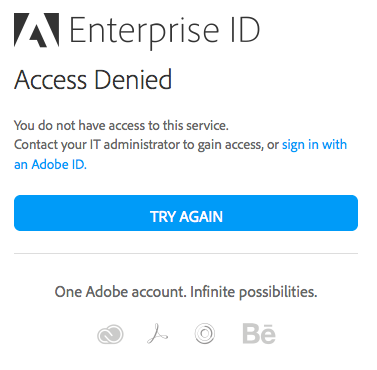Access Denied error