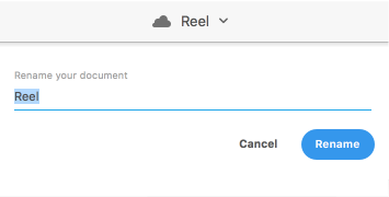 Rename a cloud document