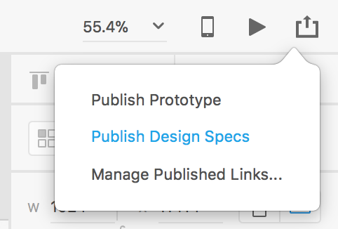 Select Publish Design Specs