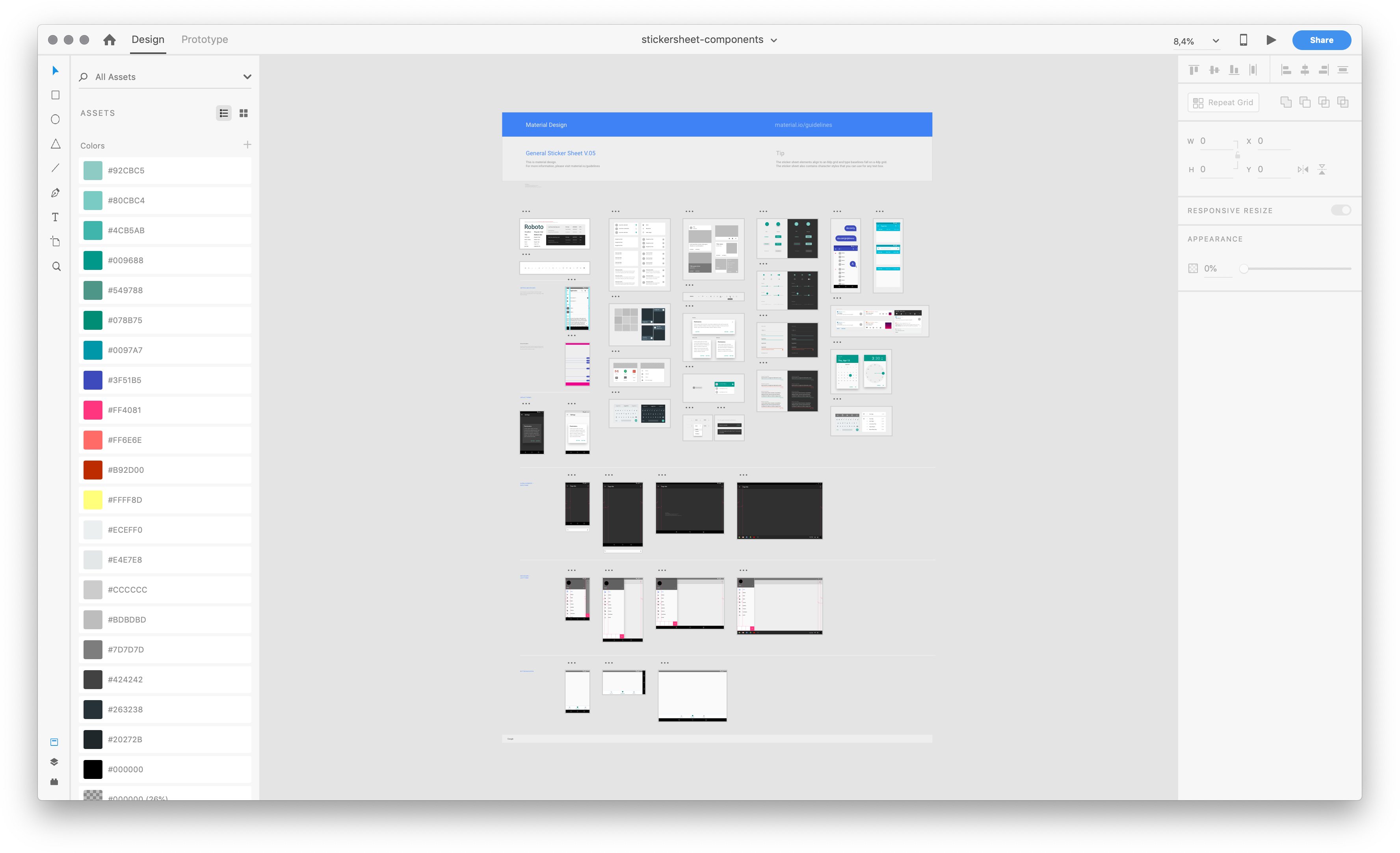 The file containing the Google Material UI Kit