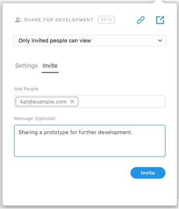 Private invites on web